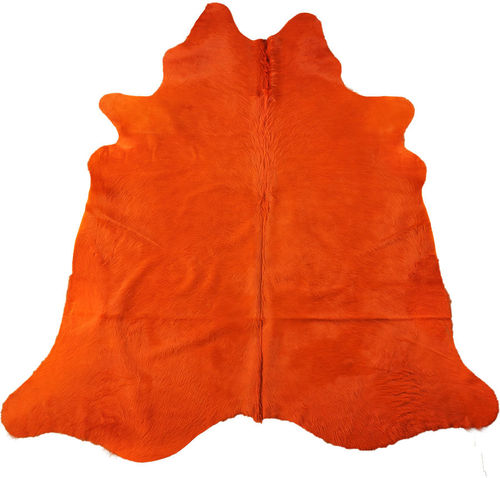 EXKLUSIVES KUHFELL STIERFELL ORANGE 230 x 190 cm