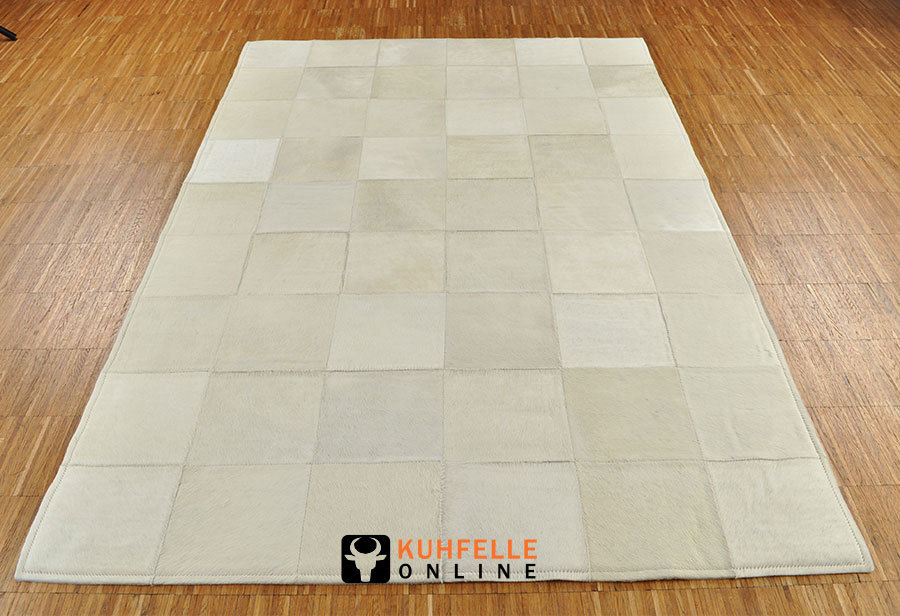 Exklusiver Kuhfell Teppich Weiss 180 X 120 Cm Kuhfelle Online