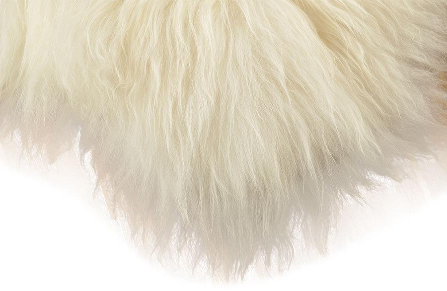 Öko lammfell teppich naturweiß 200 x 70 cm bettvorleger langwollig