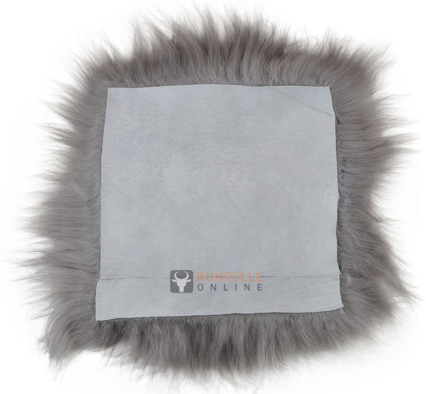 lammfell pad sitzauflage grau 37 x 37 cm langwollig online kaufen. Black Bedroom Furniture Sets. Home Design Ideas