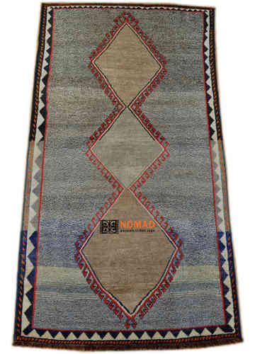 old Gabbeh Qashqai south persian tribal rug 117 x 244 cm