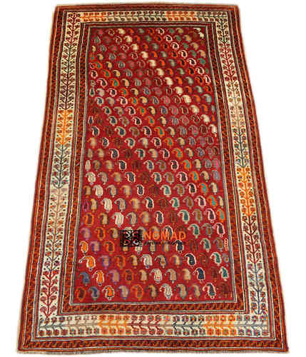 old Gabbeh Qashqai south persian tribal rug 253 x 147 cm