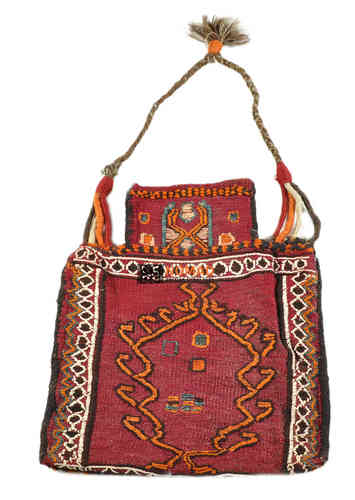 old persian kilim salt bag 45 x 40 cm