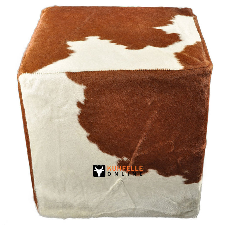 cowhide stool 50 x 50 x 50 cm kuhfelle online nomad. Black Bedroom Furniture Sets. Home Design Ideas