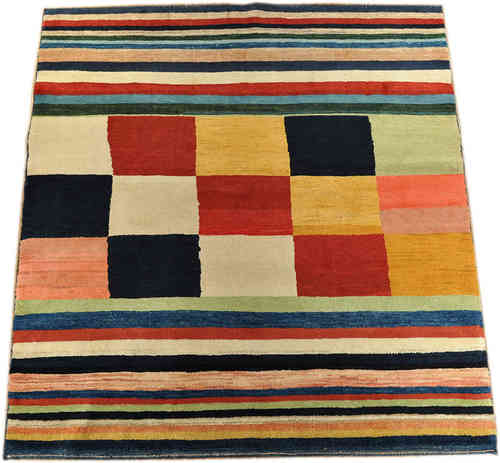 Gabbeh Qashqai 186 x 172 cm south persian tribal rug