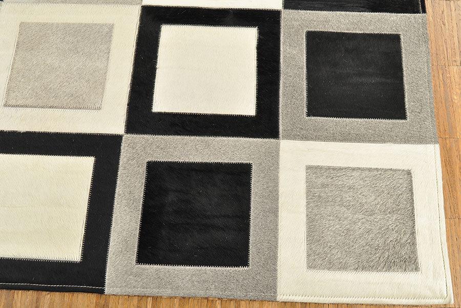 Kuhfell teppich grau schwarz weiß cm bei kuhfelle online