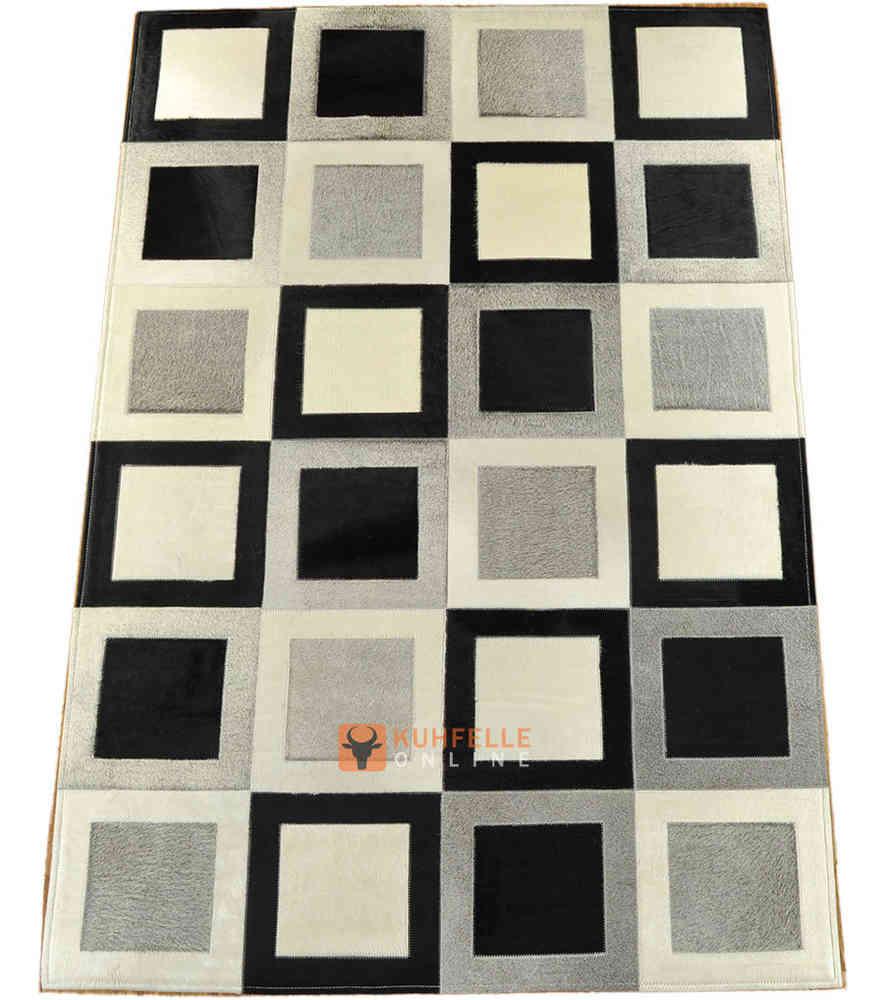 Kuhfell Teppich 210 X 150 Cm Grau Schwarz Weiss Bei Kuhfelle Online