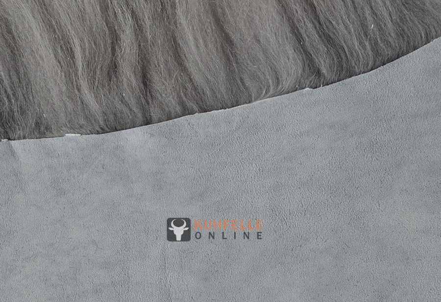 Öko lammfell bettvorleger silber grau 200 x 65 cm lammfellteppich