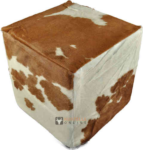 buy cowhide cube ottoman stool at kuhfelle online nomad. Black Bedroom Furniture Sets. Home Design Ideas