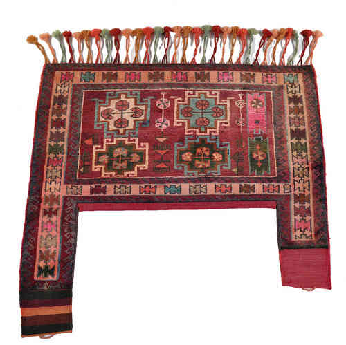 old Gabbeh Bakhtiari persian tribal rug 125 x 114 cm