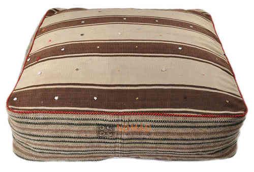 grosse kelim bodenkissen kelim pouf 80 x 80 x 20 cm online bestellen nomad art. Black Bedroom Furniture Sets. Home Design Ideas