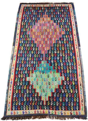 old kurdish kilim runner 268 x 140 cm