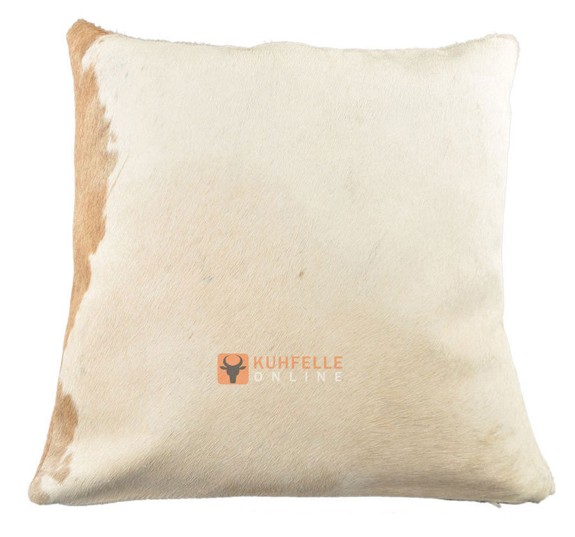 cowhide cushion 50 x 50 cm brown white kuhfelle online nomad