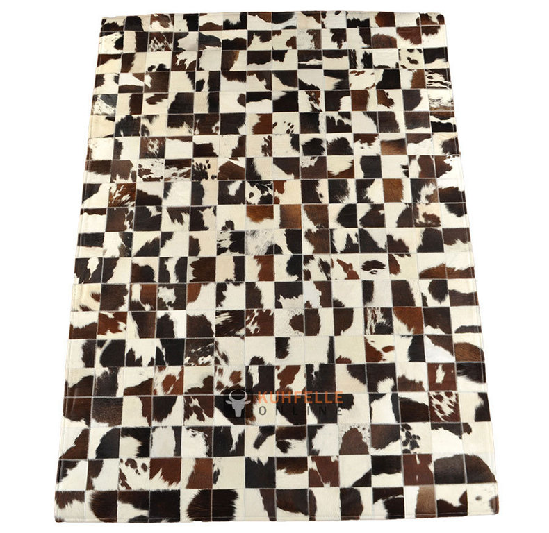 kuhfell teppich 200 x 140 cm braun schwarz weiss patchwork. Black Bedroom Furniture Sets. Home Design Ideas