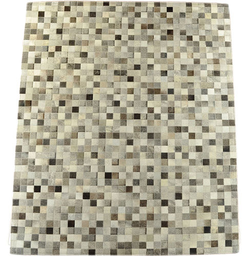 cowhide rug mix grey 200 x 160 cm