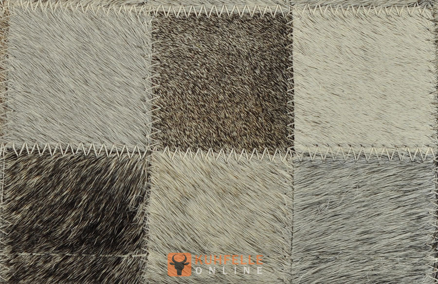 cowhide rug mix grey 140 x 80 cm patchwork. Black Bedroom Furniture Sets. Home Design Ideas