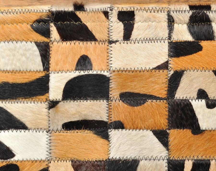 patchwork kuhfell teppich 200 x 145 cm safari optik. Black Bedroom Furniture Sets. Home Design Ideas