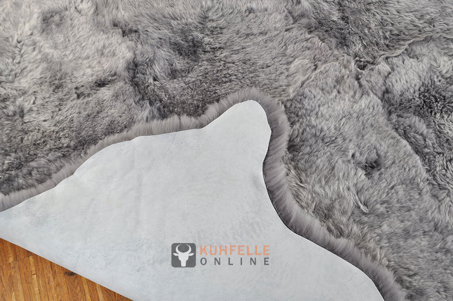 iceland lambskin rug grey 170 x 170 cm kuhfelle online. Black Bedroom Furniture Sets. Home Design Ideas