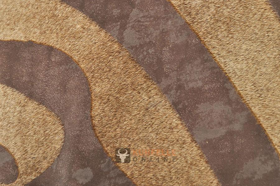 Fußboden Braun Zebra ~ Kuhfell beige mit zebra druck cm kuhfelle online