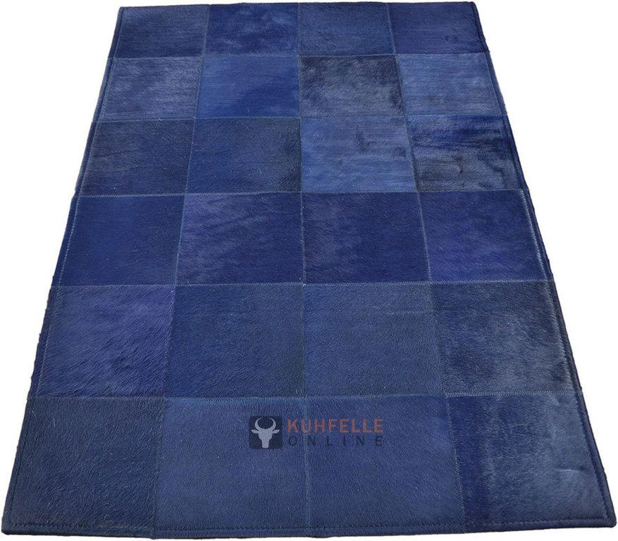 cowhide rug blue 120 x 80 cm kuhfelleonline nomad. Black Bedroom Furniture Sets. Home Design Ideas