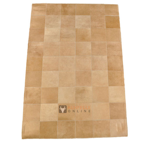 EXKLUSIVER KUHFELL TEPPICH BEIGE 180 x 120 cm