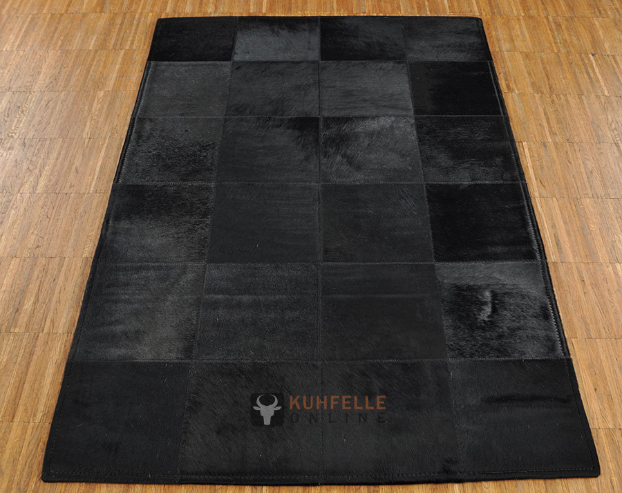 Cowhide rug black 80 x 120 cm kuhfelleonline nomad - Kuhfell teppich schwarz ...