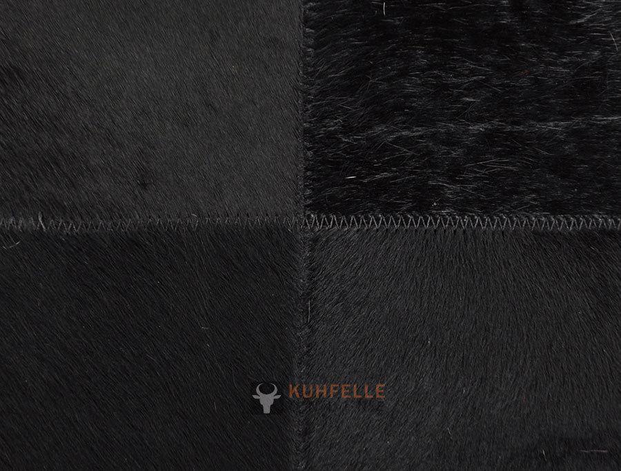 exklusiver kuhfell teppich schwarz 80 x 120 cm bei. Black Bedroom Furniture Sets. Home Design Ideas