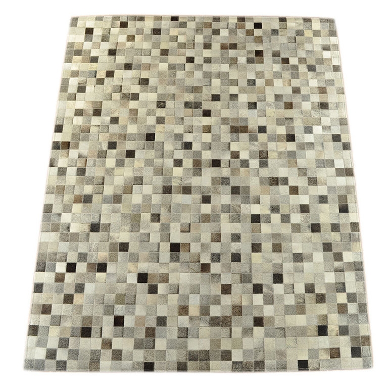 kuhfell teppich mix grau 200 x 300 cm patchwork. Black Bedroom Furniture Sets. Home Design Ideas