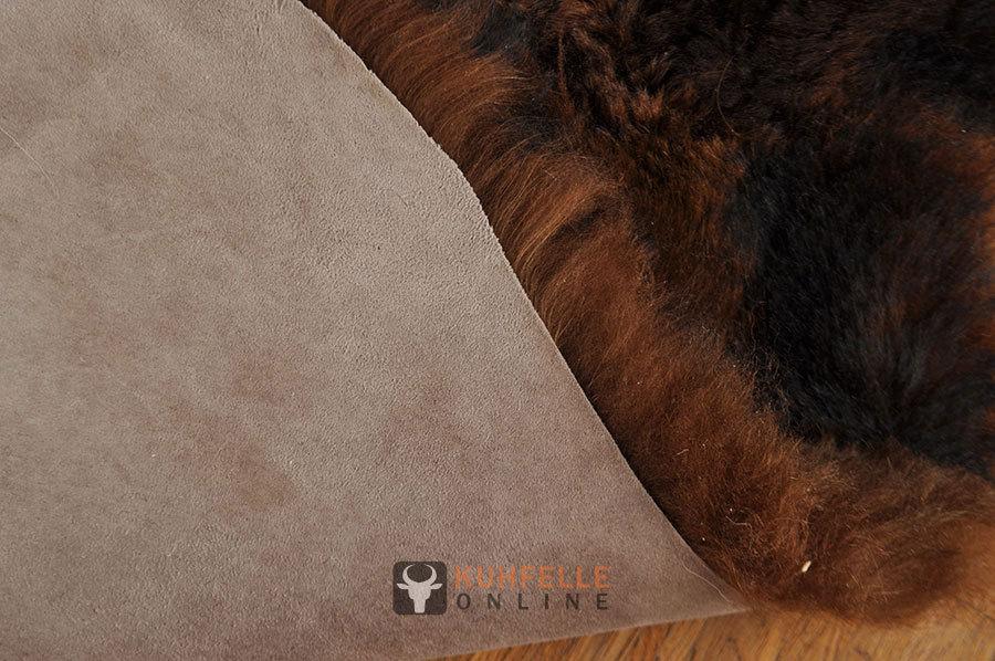 ko lammfell teppich braun 110 x 170 cm aus4 lammfellen online bestellen. Black Bedroom Furniture Sets. Home Design Ideas