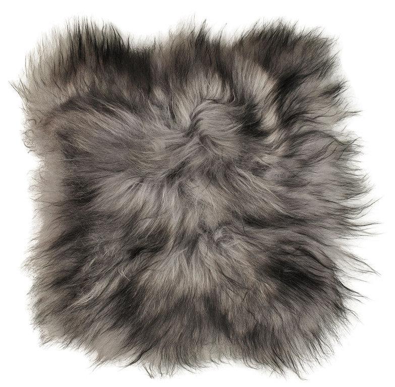 lammfell pad sitzauflage dark top 37 x 37 cm langwollig online kaufen. Black Bedroom Furniture Sets. Home Design Ideas