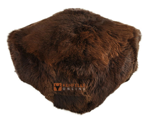 lambskin floor cushion pouf sheepskin beanbag kuhfelle online. Black Bedroom Furniture Sets. Home Design Ideas