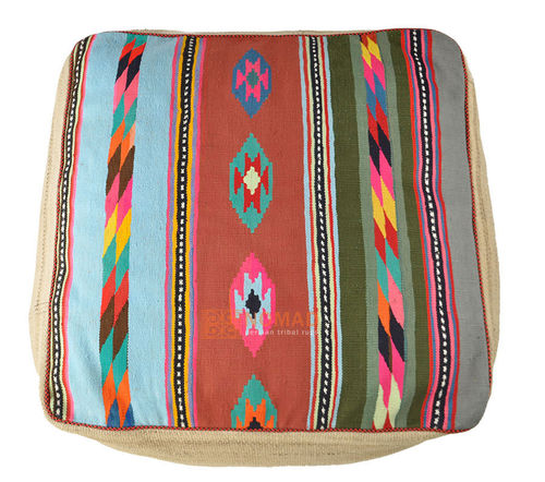 Kilim pouf floor cushion 80 x 80 x 30 cm