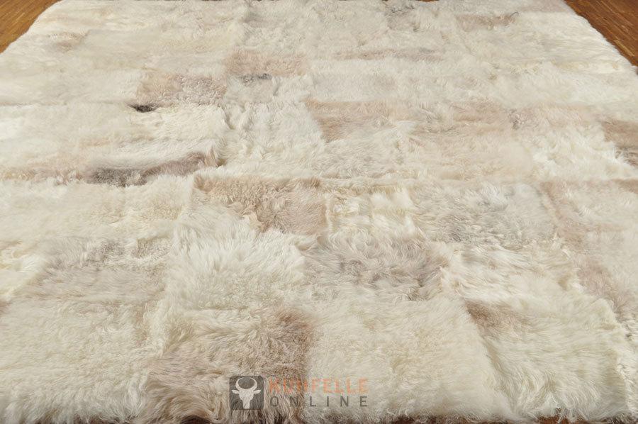 ko lammfell teppich grau beige 200 x 160 cm online bestellen. Black Bedroom Furniture Sets. Home Design Ideas