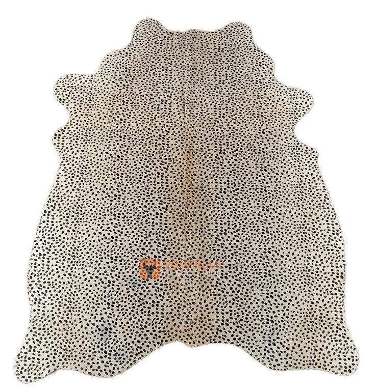 kuhfell weiss schwarz gef rbt 210 x 160 cm online bestellen. Black Bedroom Furniture Sets. Home Design Ideas