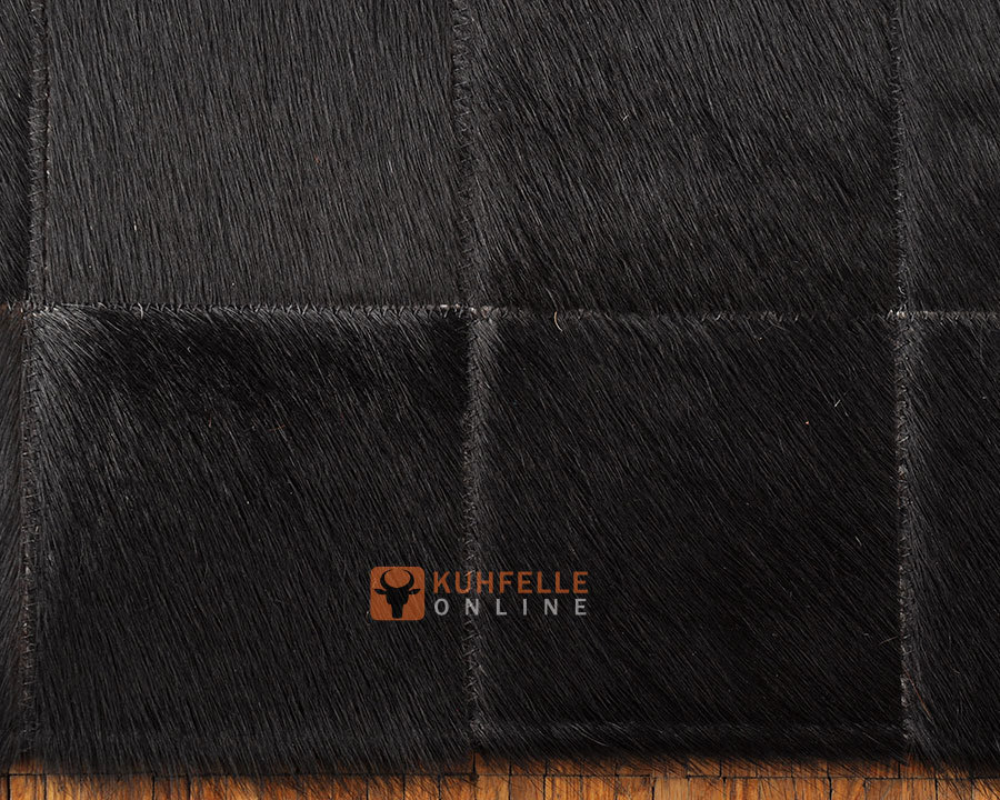 Kuhfell teppich schwarz gef rbt 180 x 120 cm kuhfelle online - Kuhfell teppich schwarz ...