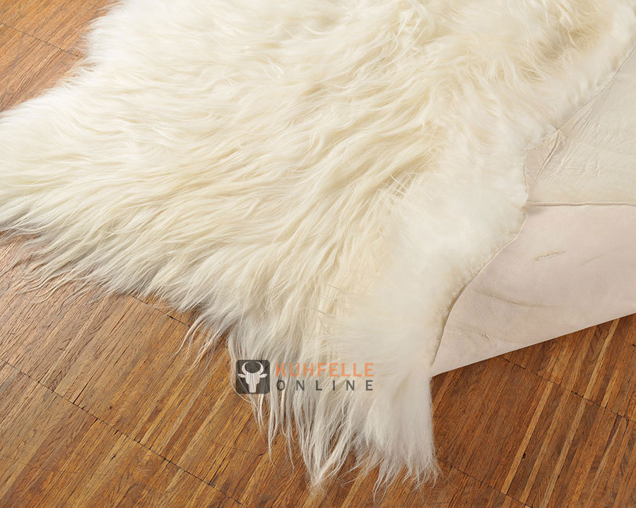 Eco Lambskin Rug Natural White 200 X 180 Cm Kuhfelle Online