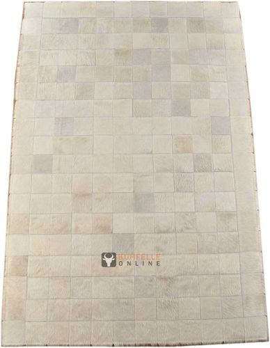 KUHFELL TEPPICH CREME WEISS 180 x 120 cm