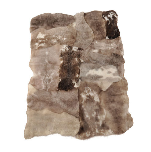 Iceland Lambskin rug light brown  145 x 200 cm