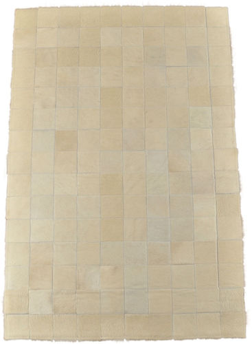 KUHFELL TEPPICH CREME WEISS 150 x 100 cm