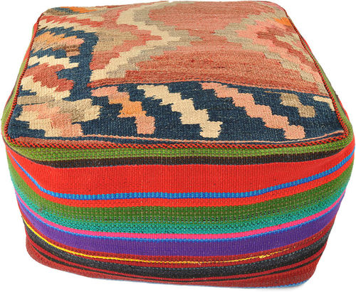 Kilim pouf floor cushion  60 x 60 x 35 cm