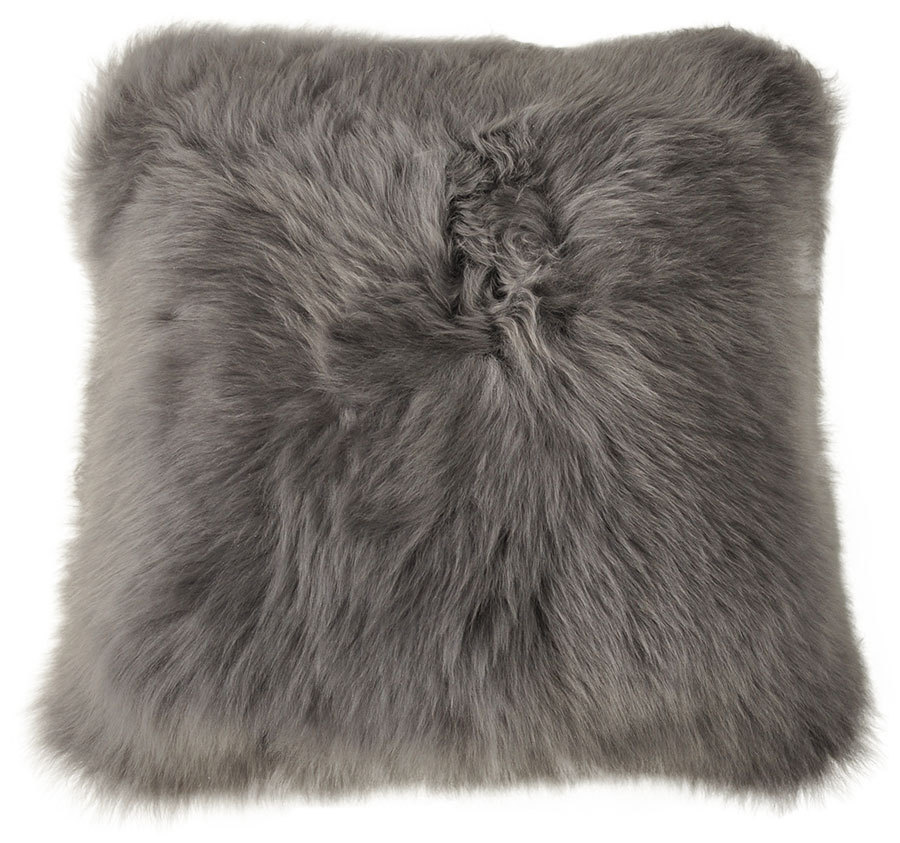 Lambskin Cushion Cover Grey 40 X 40 Cm Kuhfelle Online