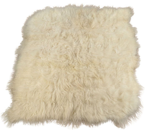 Eco lambskin rug natural white 225 x 210 cm