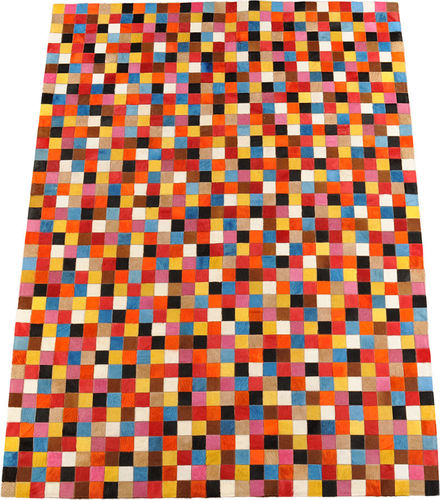 kuhfell teppich multicolor 150 x 200 cm