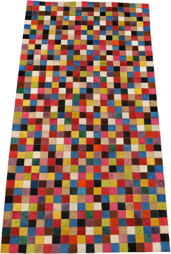 kuhfell teppich multicolor 100 x 200 cm