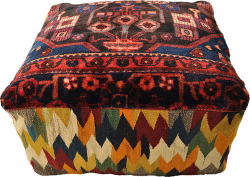 Gabbeh pouf floor cushion  70 x 70 x 30 cm