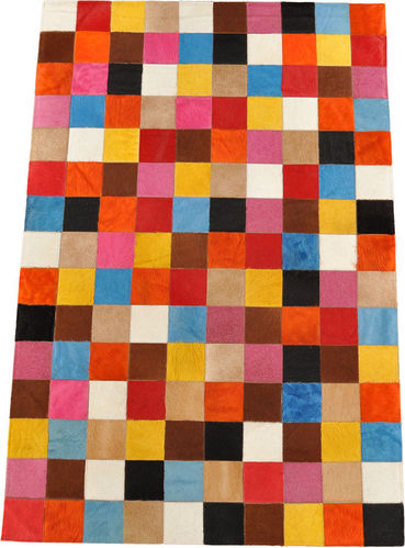 Kuhfell patchwork Teppich multicolor 150x100 cm