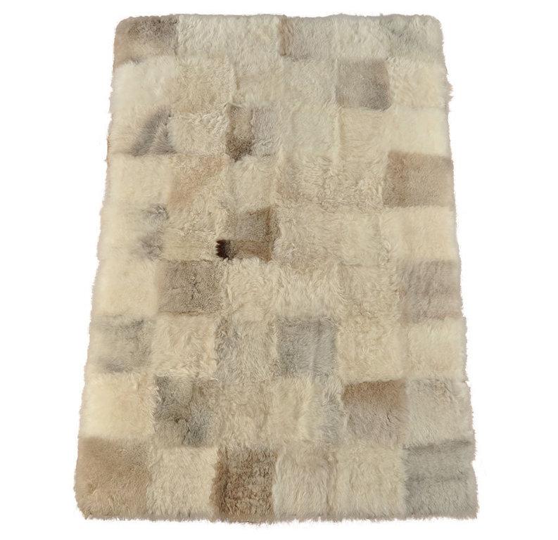 Oko Lammfell Teppich Britisch Grau Beige 180 X 120 Cm Online Bestellen