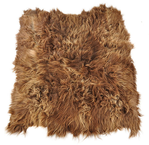 Eco lambskin rug natural brown 190 x 180 cm