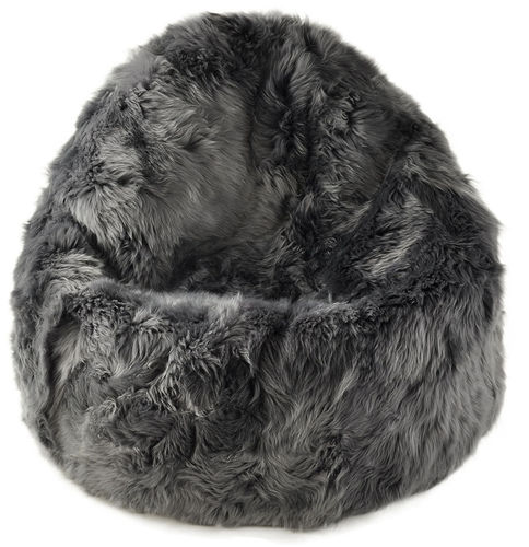 lambskin bean bag Pencil Grey