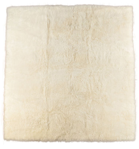 Eco lambskin rug natural white 230 x 200 cm